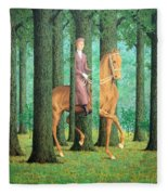 Magritte's The Blank Signature Fleece Blanket