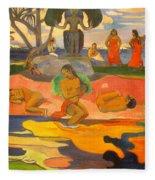 Mahana No Atua Aka. Day Of The Gods Fleece Blanket