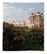 Maharaja's Palace And Garden India Mysore Fleece Blanket