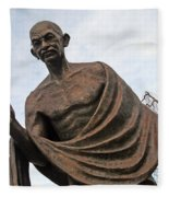 Mahatma Gandhi In Washington Fleece Blanket