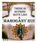 Mahogany Rush Art Fleece Blanket
