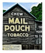 Mail Pouch Chew Fleece Blanket