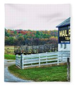 Mail Pouch Tobacco Barn In The Fall Fleece Blanket