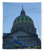 Main Dome Of The State Capital Fleece Blanket