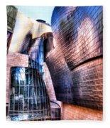 Main Entrance Of Guggenheim Bilbao Museum In The Basque Country Spain Fleece Blanket