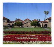 Main Quad Stanford California Fleece Blanket