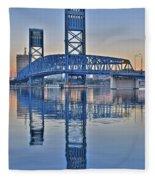 Main Street Bridge Jacksonville Florida Fleece Blanket