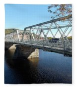 Main Street Bridge Shelbourne Falls  Fleece Blanket