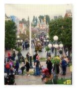 Main Street Disneyland 02 Fleece Blanket