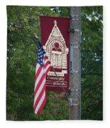 Main Street Flags Dwight Il Fleece Blanket