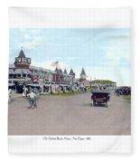 Maine - Old Orchard Beach Train Depot - 1910 Fleece Blanket