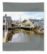 Maine Backwater Fleece Blanket