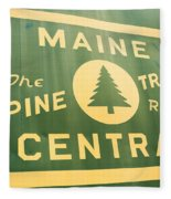 Maine Central The Pine Tree Route Fleece Blanket