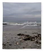 Maine Coastline  Fleece Blanket