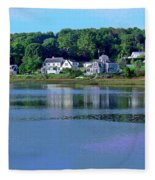 Maine Lakefront Fleece Blanket