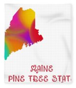 Maine State Map Collection 2 Fleece Blanket