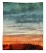 Maine Sunset Fleece Blanket