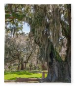 Majestic Live Oak Tree Fleece Blanket