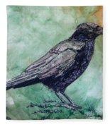 Majestic Crow Fleece Blanket