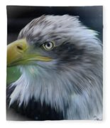 Majestic Eagle Of The Usa - Featured In Feathers And Beaks-comfortable Art And Nature Groups Fleece Blanket
