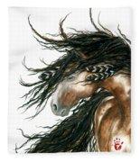 Majestic Pinto Horse 80 Fleece Blanket