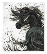 Majestic Spirit Horse  Fleece Blanket