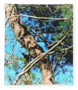 Majestic Pine Tree Abstract Fleece Blanket