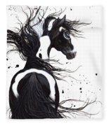 Majestic Pinto Horse Fleece Blanket