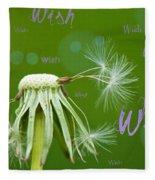 Make A Wish Card Fleece Blanket