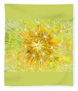 Make A Wish In Greenish Yellow Fleece Blanket