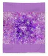 Make A Wish In Purple Fleece Blanket