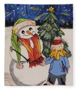 Make A Wish Snowman Fleece Blanket