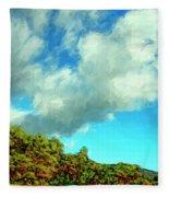 Makena Beach Maui Fleece Blanket