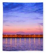 Malaga Pink And Blue Sunrise  Fleece Blanket