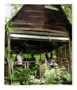 Malay Hut Fleece Blanket