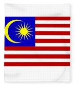 Malaysia Flag Fleece Blanket