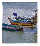 Malaysian Fishing Jetty Fleece Blanket