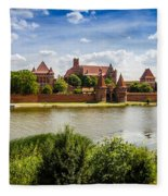 Malbork Castle Fleece Blanket