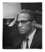Malcolm X 1964 Fleece Blanket