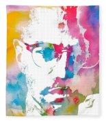 Malcolm X Watercolor Fleece Blanket