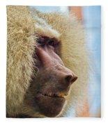 Male Baboon Fleece Blanket