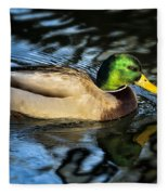 Male Mallard Fleece Blanket