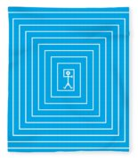 Male Maze Icon Fleece Blanket