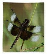 Male Widow Skimmer Dragonfly Fleece Blanket