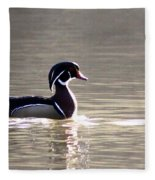 Male Wood Duck - Sucarnoochee  River Fleece Blanket