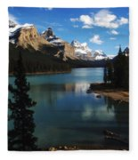 Maligne Lake Beauty Of The Canadian Rocky Mountains Fleece Blanket
