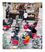 Mall Food Court Fleece Blanket