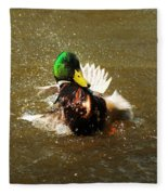 Mallard Bath Time Fleece Blanket
