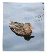 Mallard Duck Smile Fleece Blanket