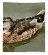 Mallard Duck Series #1 Fleece Blanket